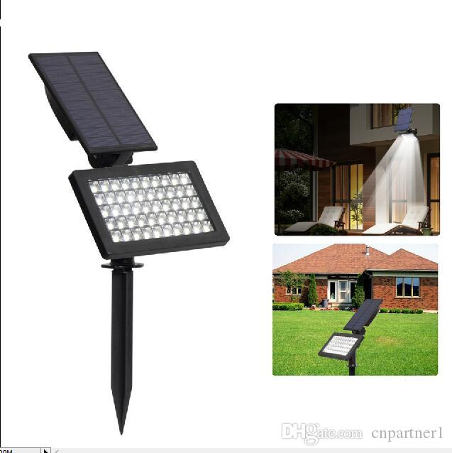 2018 fast ship LED Solar Powered Garden Lights 50LEDs Outdoor IP44 Waterproof Lawn Lamp Landscape Spot Lights Adjustable solar lamps