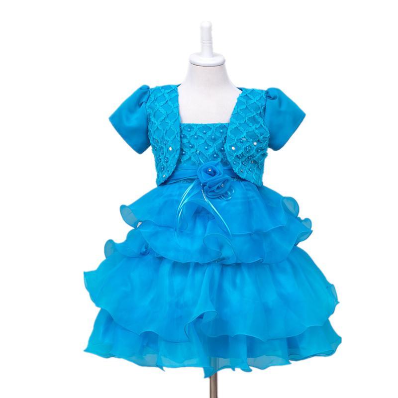 2016 Nuovo i Pizzo Tulle Flower Girl Dress Little Princess Comunione Dress Bambini Abbigliamento ragazza Cerimonie Abito da sposa