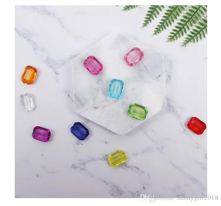 free shipping square shape arylic bead DIY jewelry used for baby making diy jewelry and toys used for christmas tree dress up