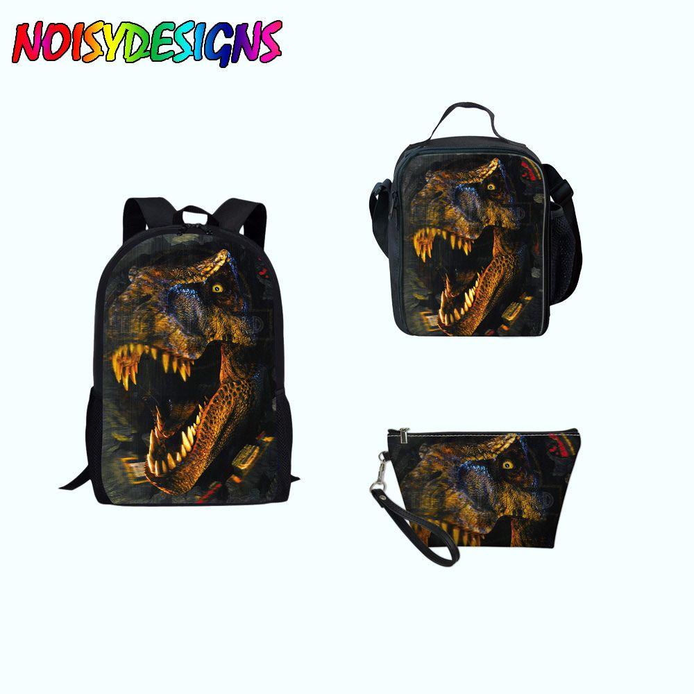 Dinosaur Jurassic World Animal School Bags Kids Girls Boys Children