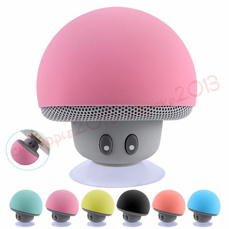 Portable Bluetooth Speaker Wireless Handsfree Mushroom Speaker With Sucking Disc Bracket for iphone samsung MP3 pad tablet pc with retail