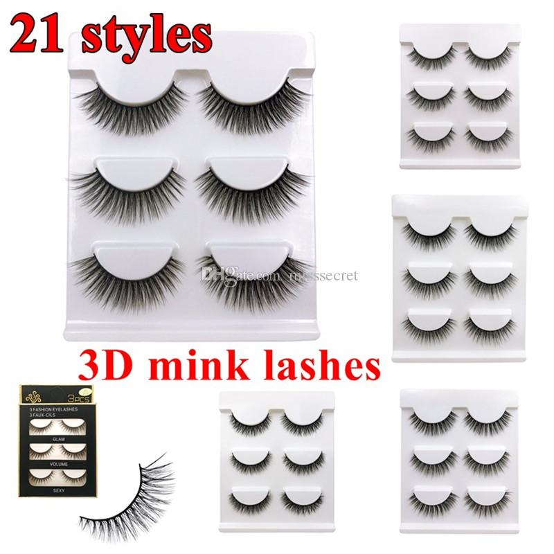 3 Pairs 3d Long False Eyelashes Makeup Natural Fake Thick Black Eye Lashes False Eyelashes Natural Hair Maquiagem 50* Beauty Essentials