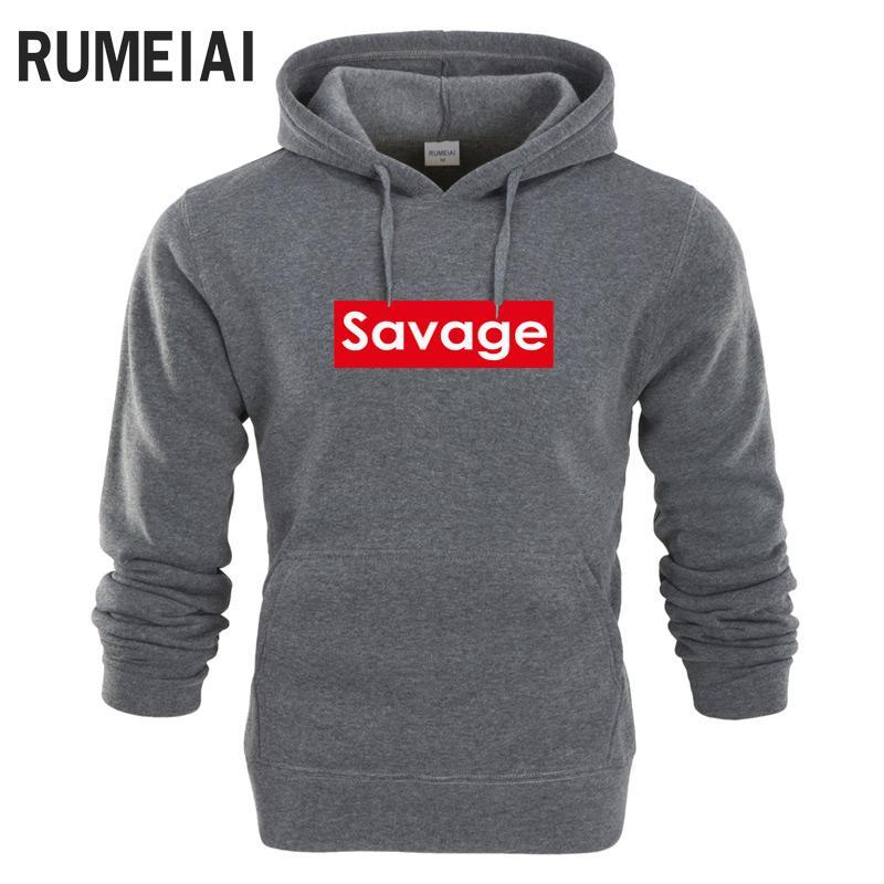 Acheter Rumeiai 2018 Savage Hoodies Hommes Sudaderas Hombre Hip Hop Lettre  Imprimer Mens Marque À Capuche Sweat Slim Fit Hommes À Capuche De  21.62 Du  ... 6d7c43216444