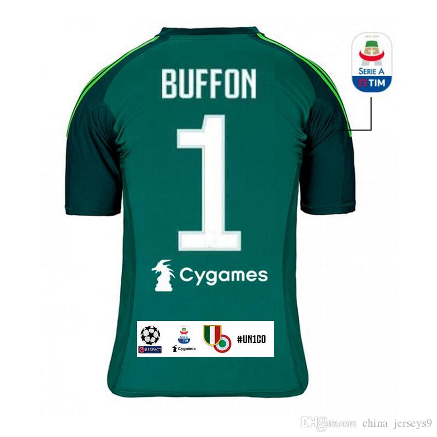 low priced c9aa1 45497 Juventus BUFFON SZCZESNY Soccer Jersey PERIN PINSOGLIO goalkeeper home  football shirts uniform sales size S-XL