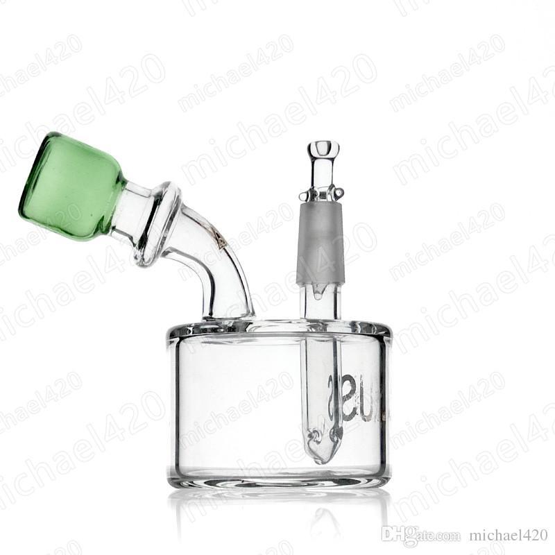 유리 봉으로 수제 유리 수도관 10 hign 흡연 물 파이프 명확한 색상과 녹색 색 입 유리 물 파이프
