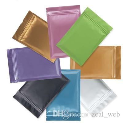 متعدد الألوان الأغلاق الرمز البريدي مايلر حقيبة تخزين المواد الغذائية رقائق الألومنيوم أكياس كيس من البلاستيك رائحة الإثبات في الأوراق المالية