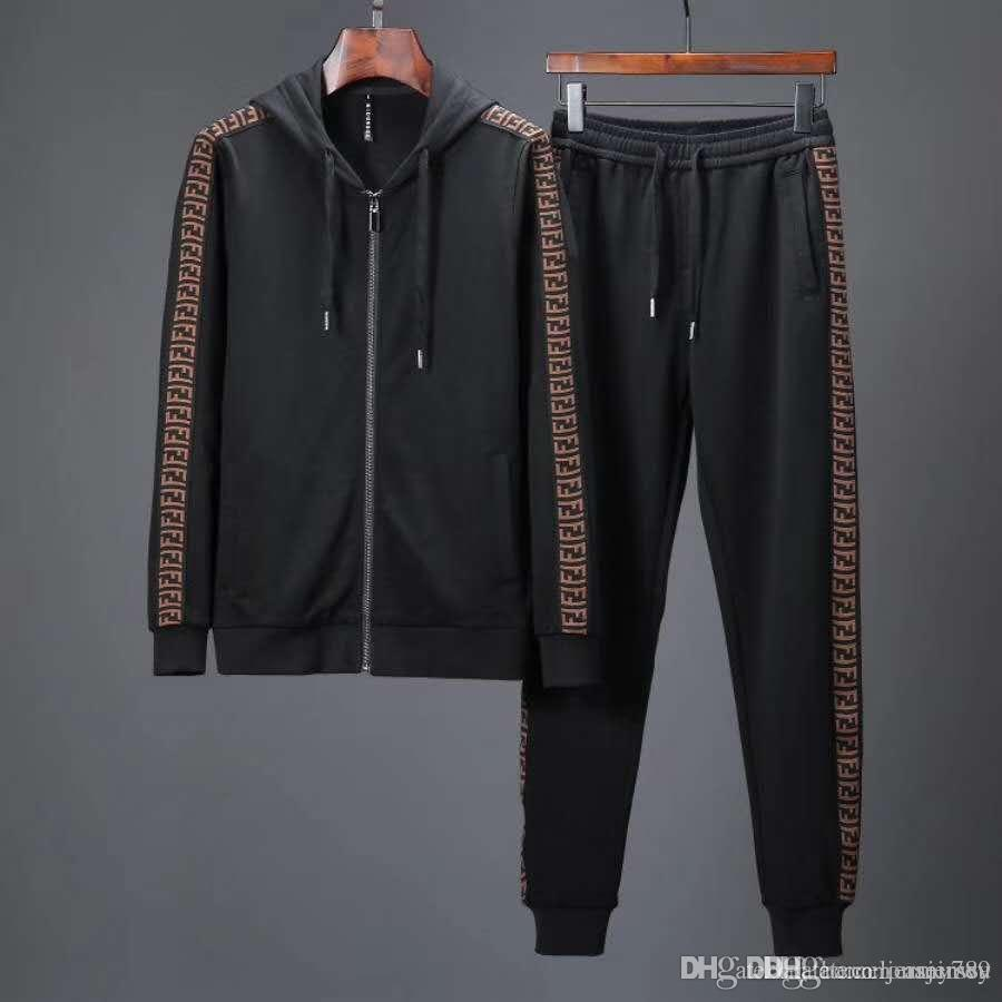 2018 Fashion Fashion Designer Sportswear Men s Luxury Sports Suit ... 829205b56