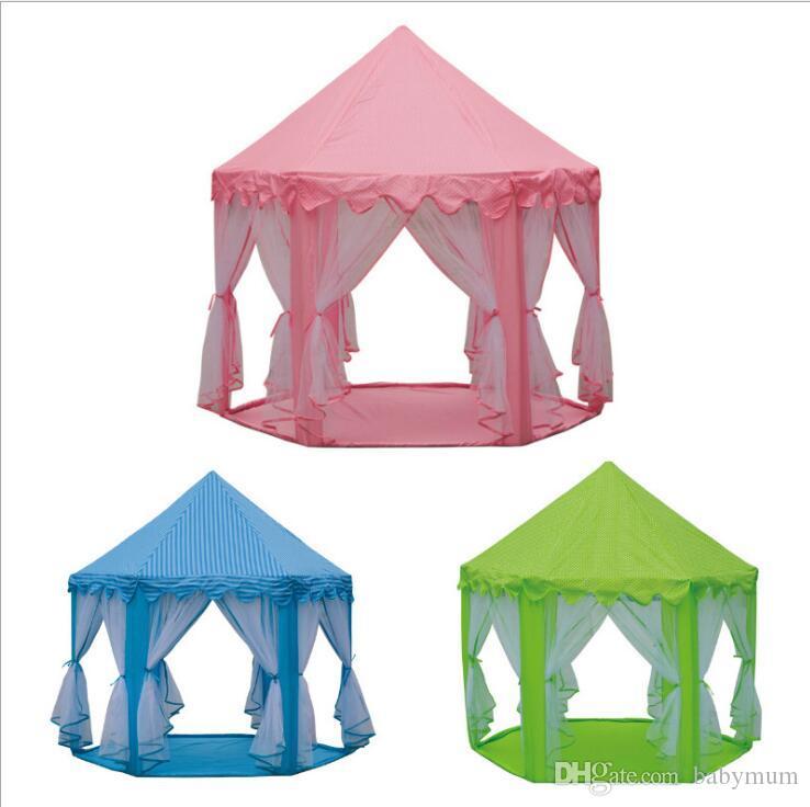 INS Bambini Toy Tende da campeggio Princess Castle Play Gioco Tent Activity Fairy House Fun Indoor Outdoor Sport Casetta giocattolo bambini Regali