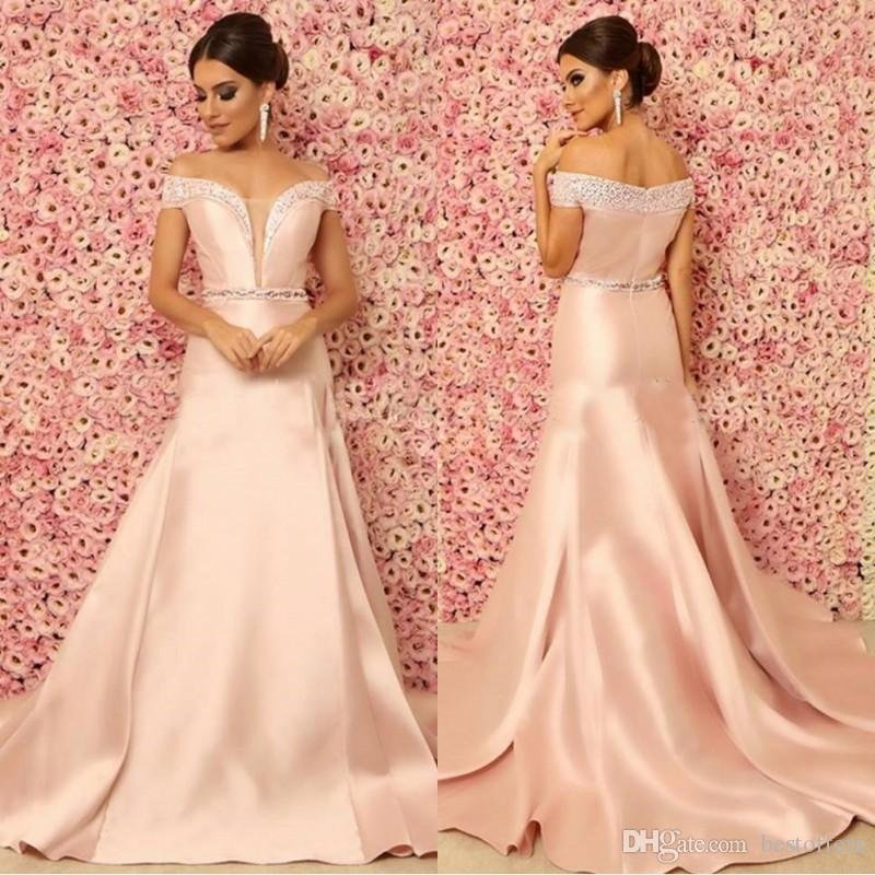 Gorgeous Mermaid Evening Dresses 2018 Off The Shoulder Crystal ...