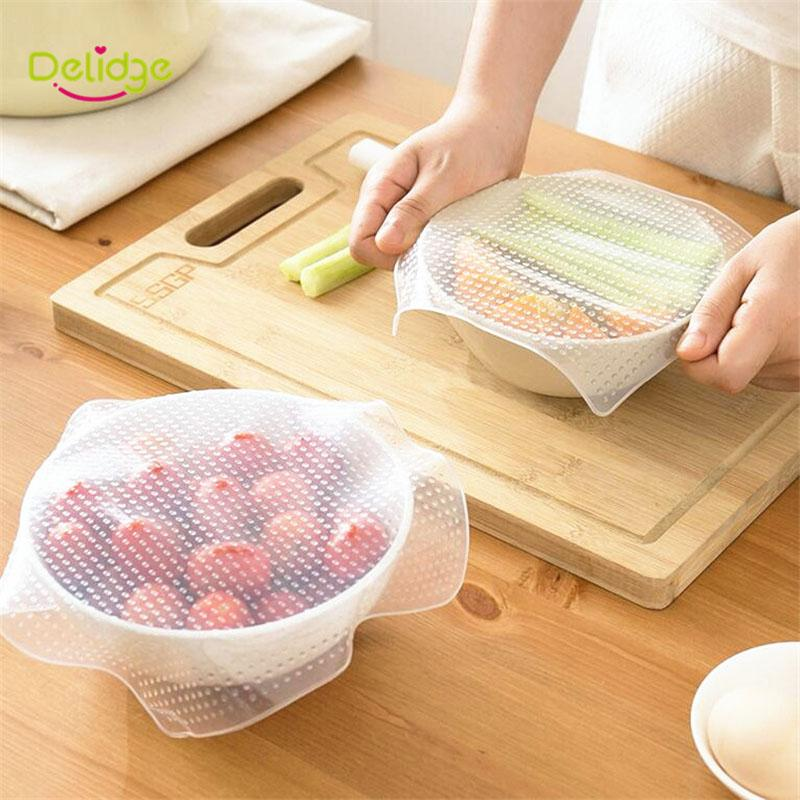 4-pcs-set-Food-Cling-Film-Multifunctional-Silicone-Wraps-Seal-Cover-Stretch-Cling-Film-Fresh-Keeping