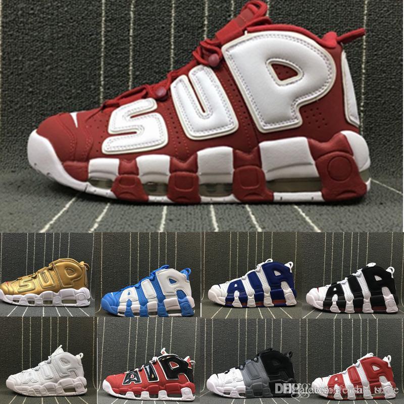 san francisco c3bce 0c617 Großhandel 2018 Air Mehr 96 QS Olympic Varsity Maroon Herren  Basketballschuhe Für 3M Scottie Pippen Uptempo Sportschuhe Sneakers 5.5 13  Von Feishu trade, ...