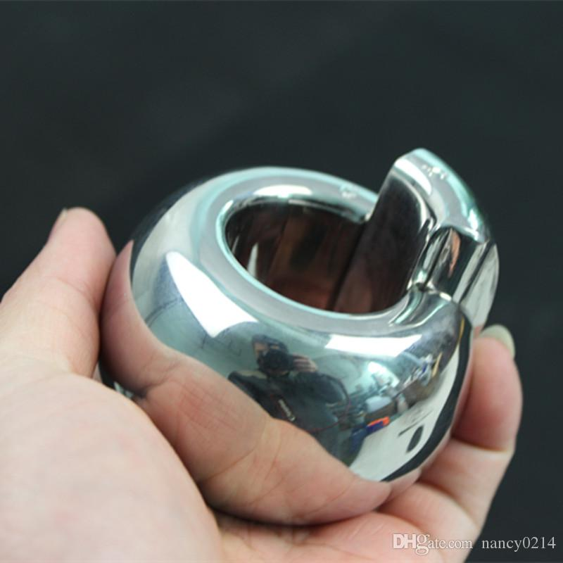 Stainless Steel Scrotal Weight Bearing Penis Ring Scrotal Pendant,Cock Iron Crotch Cover Ring,Penis Exercising Apparatus Sex Toys B2-201