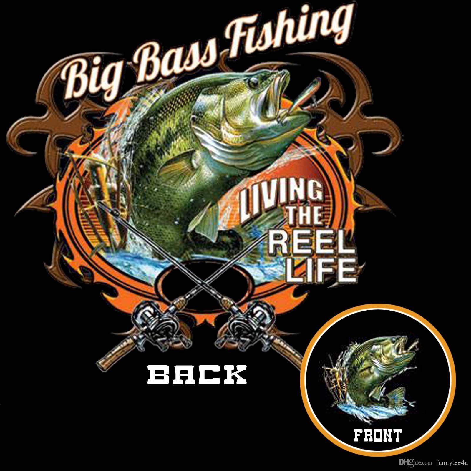 Bass Fishing T Shirt Fisherman Rod Reel Big Mouth S To 6xl Tall T