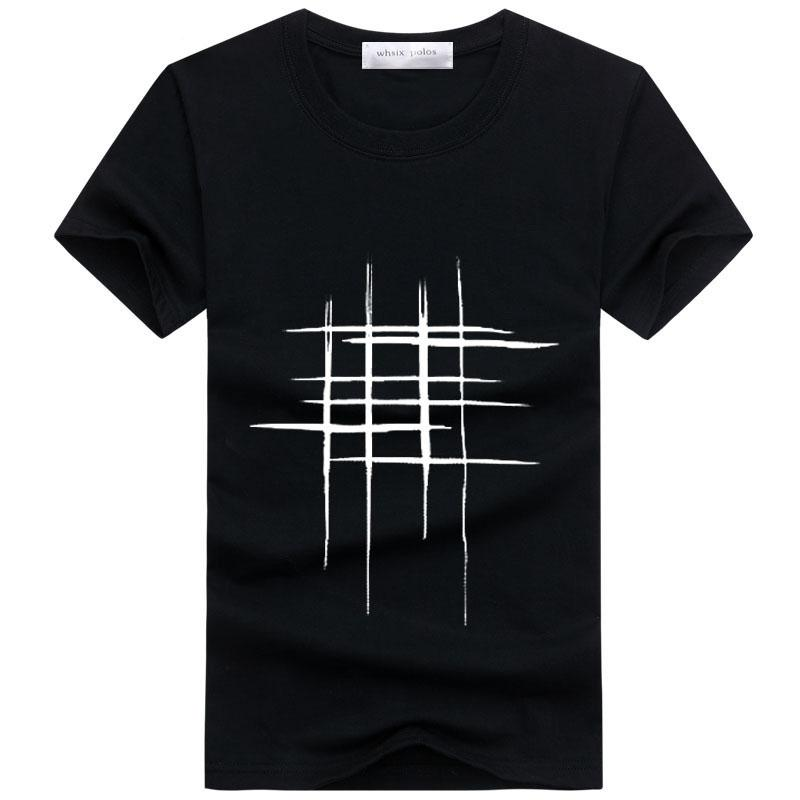 5e81cb3e7c New Arrival Summer Men t-shirt Style Short Sleeve Simple creative design  Disorder box cross word Print cotton Men Brand Tee
