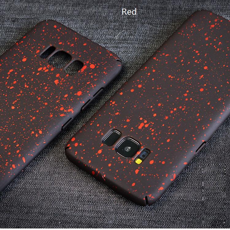 Звездное небо жесткий PC матовая крышка телефона протектор Shell для iPhone X 8 пятно блеск чехол для iPhone 7 Samsung S8 S9