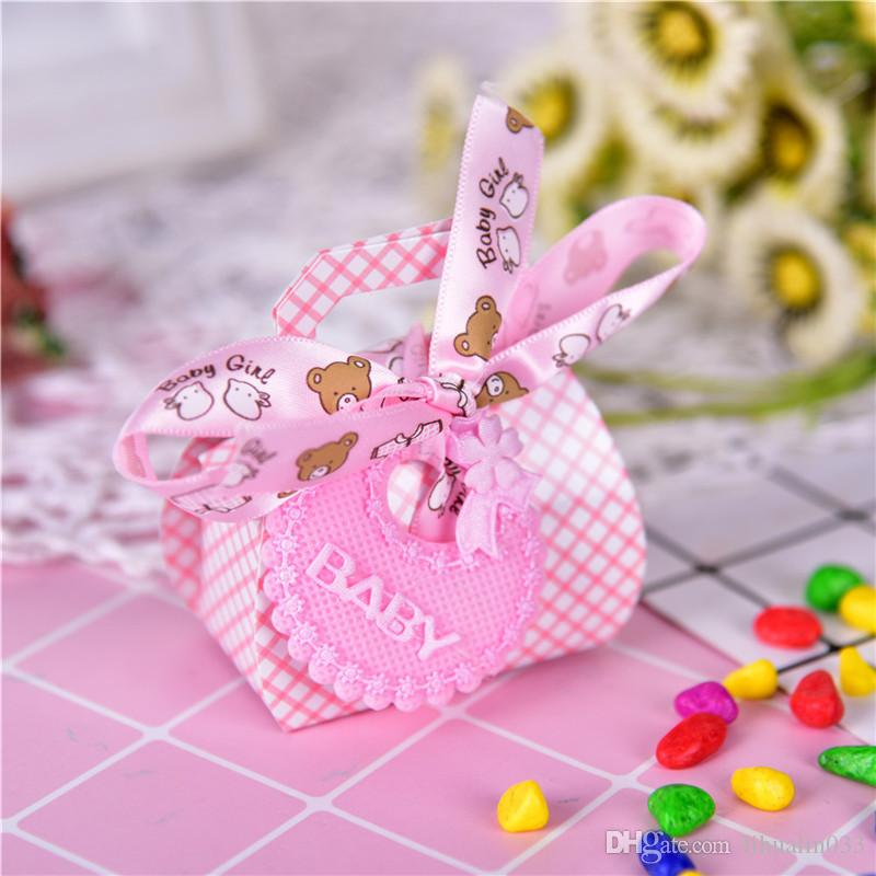 Cute Diy Gift Christening Baby Shower Party Paper Favor Boxes With