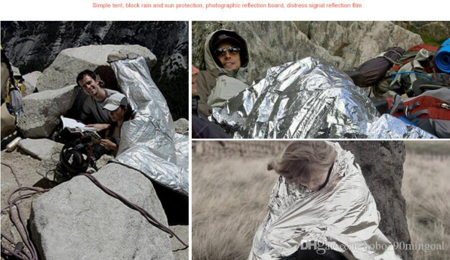 Многофункциональный Открытый Отдых Водонепроницаемый Аварийного Выживания Изоляции Фольги Тепловой Первой Помощи Спасательное Одеяло Инструмент реагирования на Аварийные