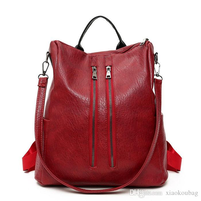2018 Soft Designer Handbags Women Leather Shoulder Bag For Women  Convertible Backpack Crossbody Bag 2080 Bags Store Leather Goods Purses For  Sale From ... e49b05112a