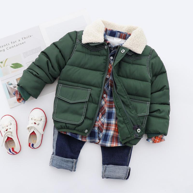 Warme Verdickung Winter Baumwolle Kind Mantel Kinder Oberbekleidung Winddicht Baby Jungen Jacken 2 8 Jahre Alt