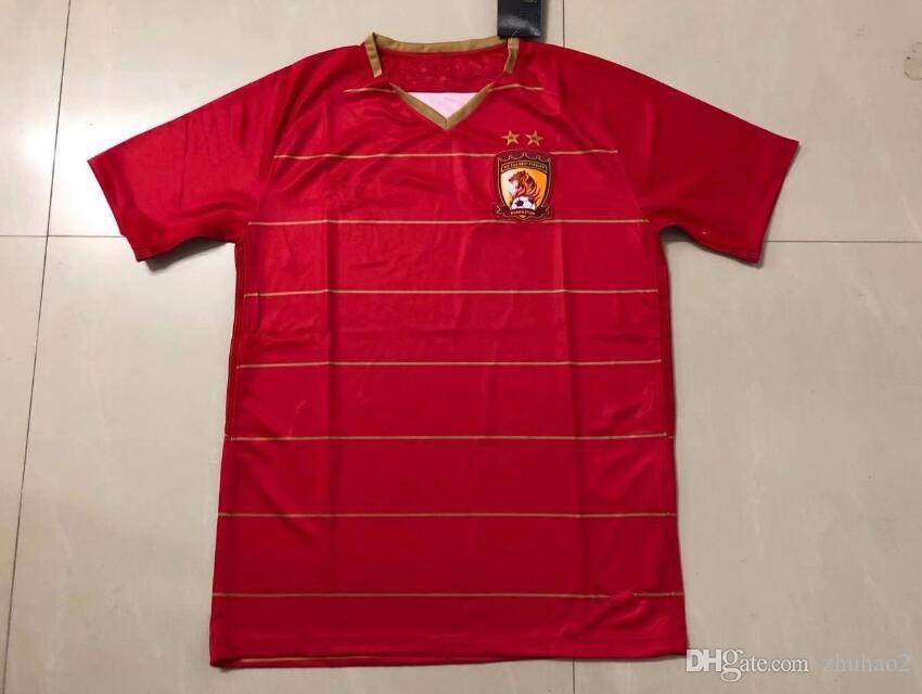 7a506e120 Compre 2018 Guangzhou Evergrande Taobao Vermelho Casa Camisas De Futebol De  Futebol Camisas Vermelhas Ricardo Goulart Alan Nemanja Gudelj De Zhuhao2