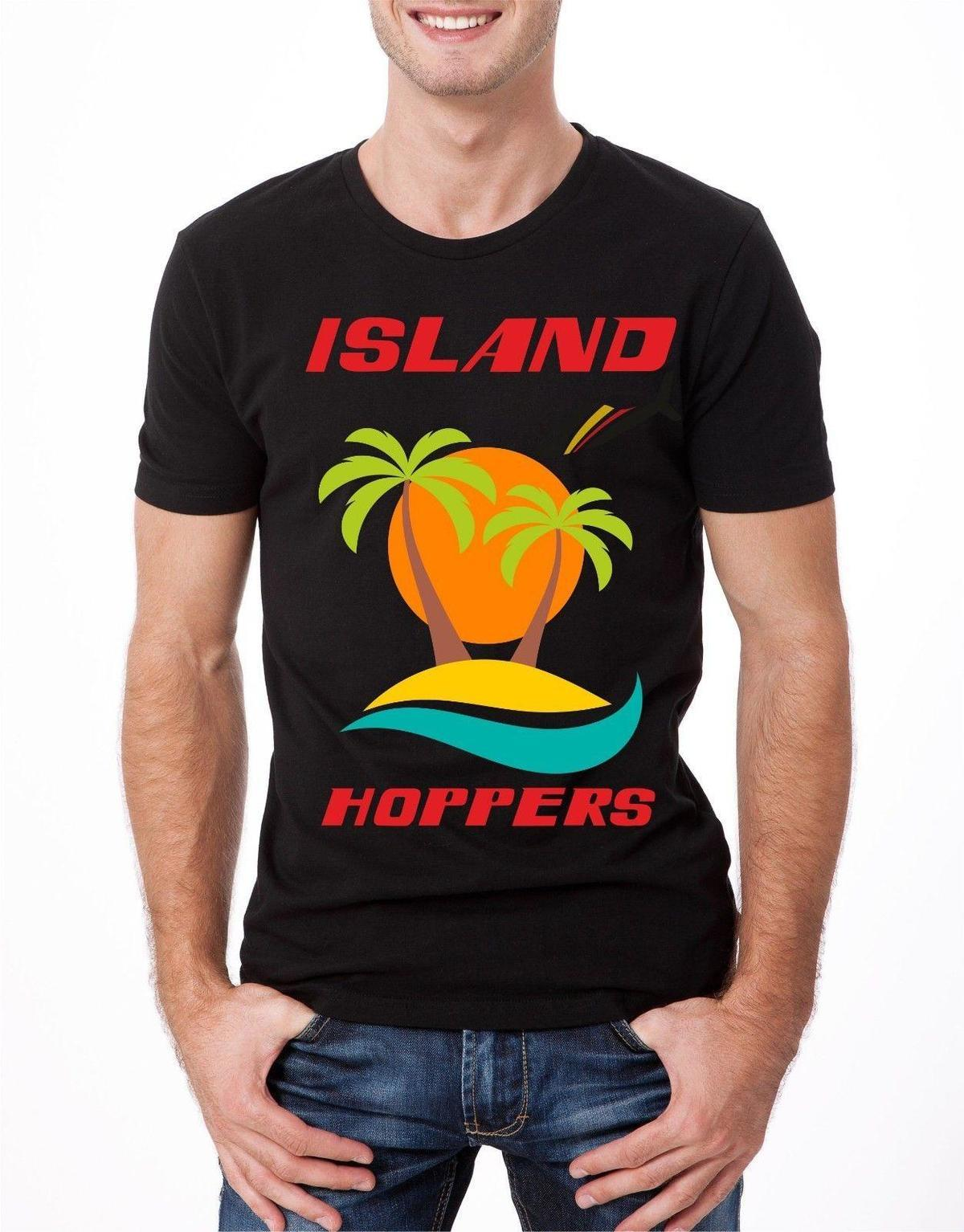 T-SHIRT Island Hoppers Magnum PI TV Tema Retro TEE Classic TC Hawaii Cool B