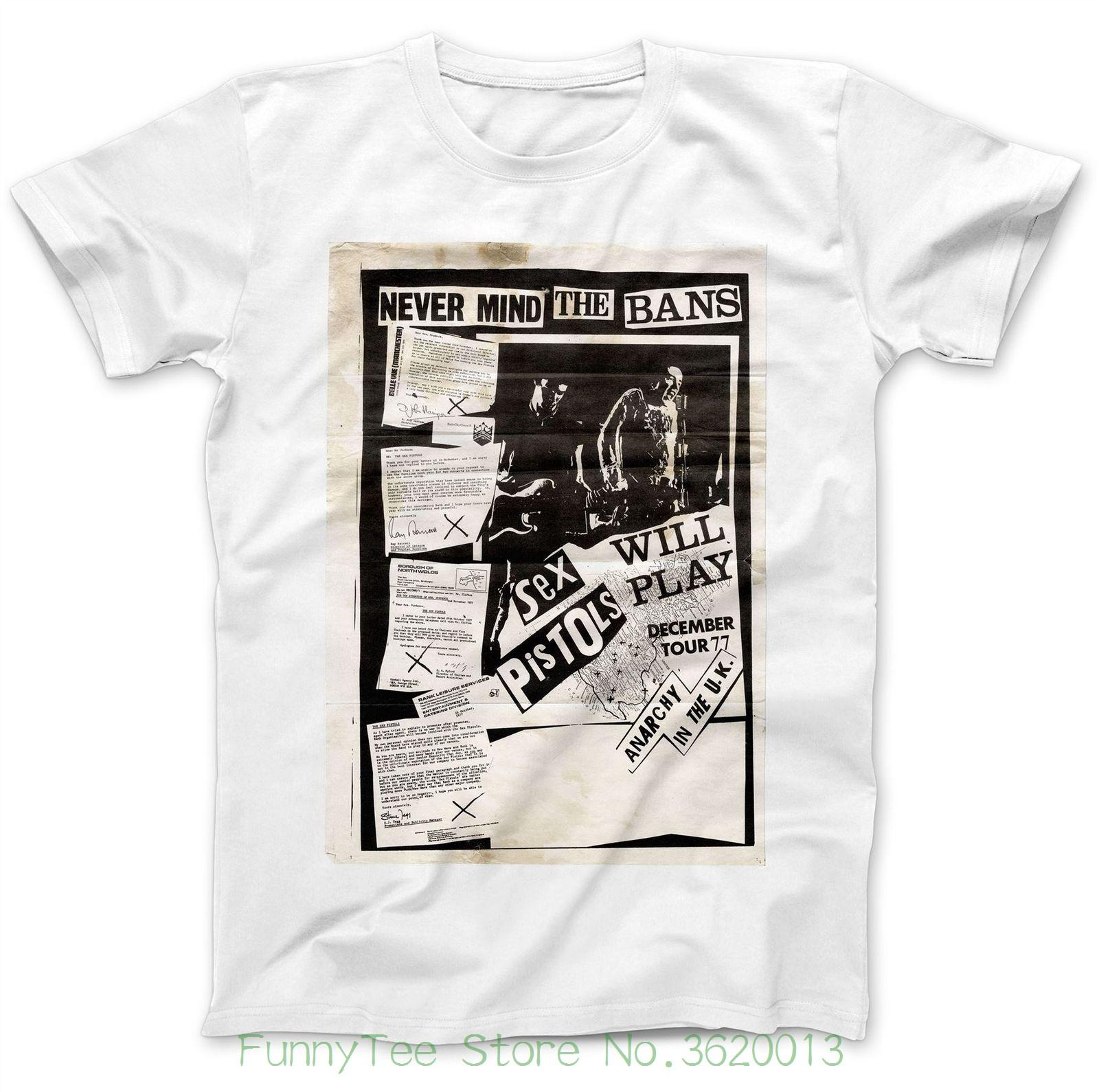 96c31b49186 Never Mind The Bans Anarchy In The Uk T Shirt 100% Discount Wholesale  Cotton Pistols Coolest T Shirts Online Buy Shirt Designs From Cooldaystore
