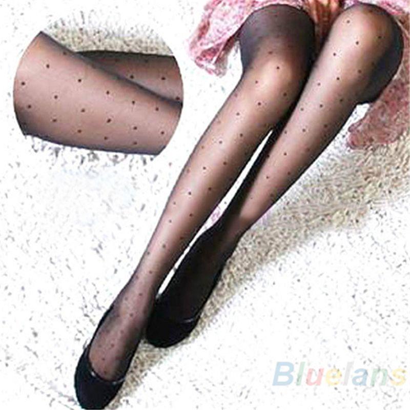 277a039f18b Women s Tights Classic Small Polka Dot Silk Stockings Tights Slim Sheer  Summer Retail Wholesale 549G Drop Shipping