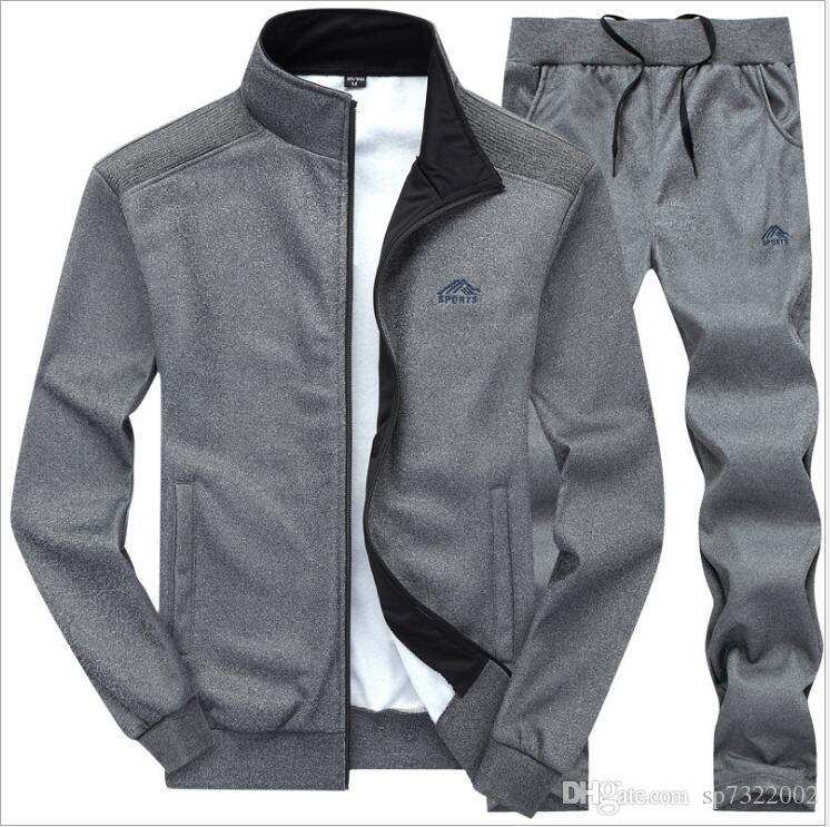 f1be9bffcf2 2019 Sweatsuit Men Clothing Tracksuit Set Crossfit 2018 Men S Set Spring  Summer Men Tracksuit Sportswear Set Suit Jacket+Pant From Sp7322002