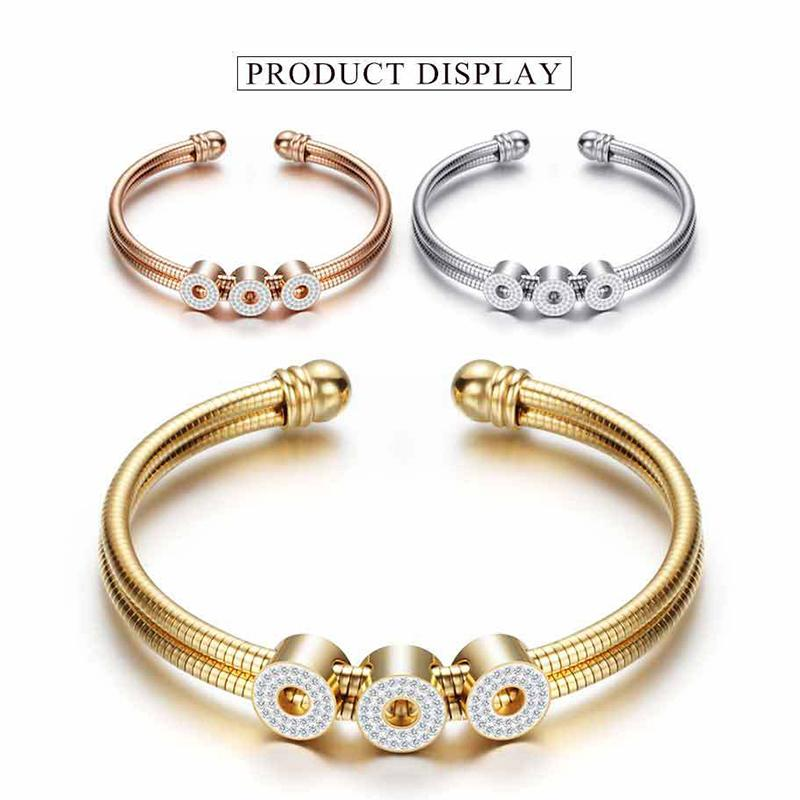 08685c0eaf6 Stainless Steel Women s Bracelet Silver/ Gold/ Rose Gold Snake Chain  Bracelet Bangles with Crystals Fashion Jewelry Female