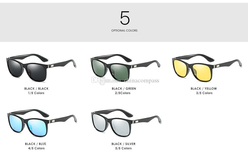 UV400 New Fashion Polarized Sunglasses flash Outdoor Eyewear Driving Fishing for Men A539