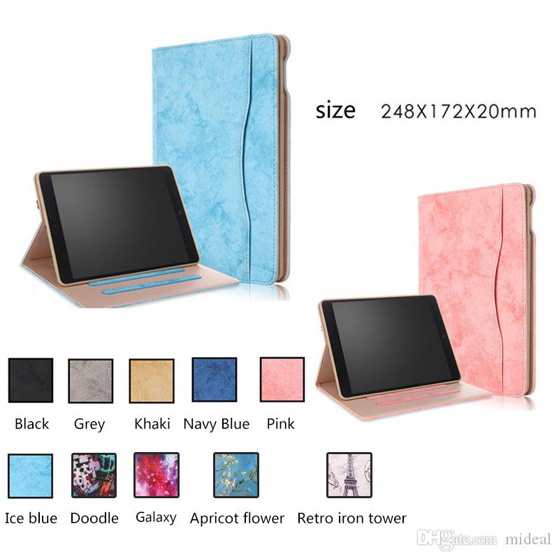Hot Selling Business Folding PU Leather Elastic Hand Strap Stand Case For  apple iPad air 2 ipad Funda Tablet Cover For ipad air2
