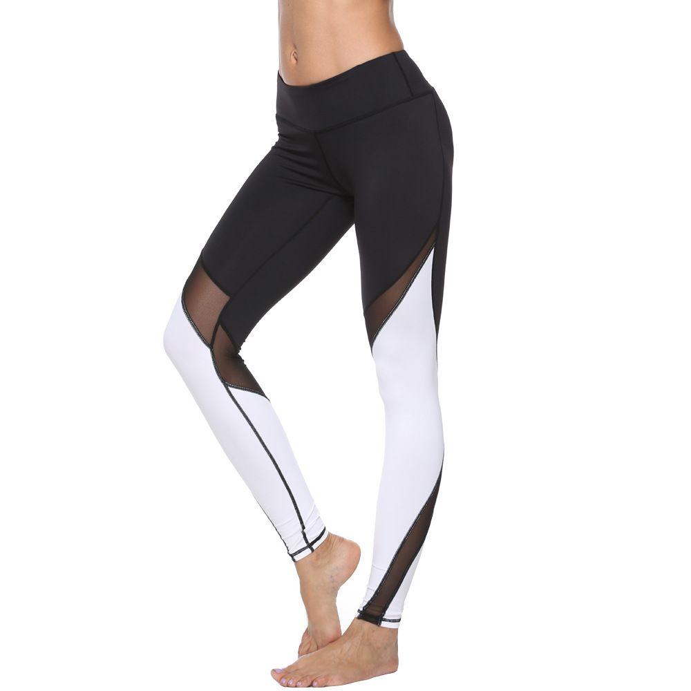 2e1eb34d37 Sports Pants Quick-drying Net Yarn High Stretch Compression Tight ...
