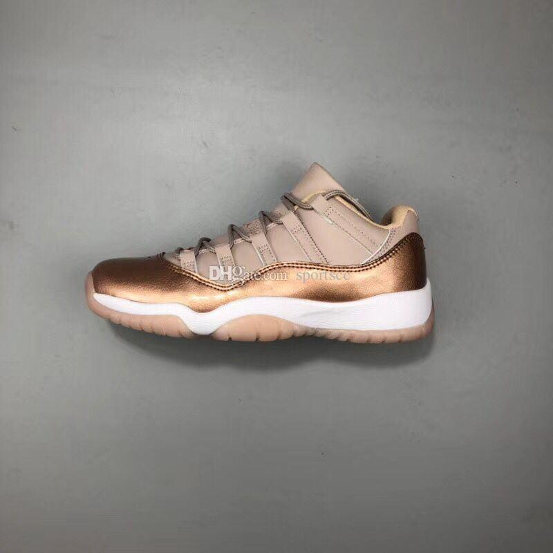 11 Low GS Rose Gold Basketball Shoes Women 11s Sneaker