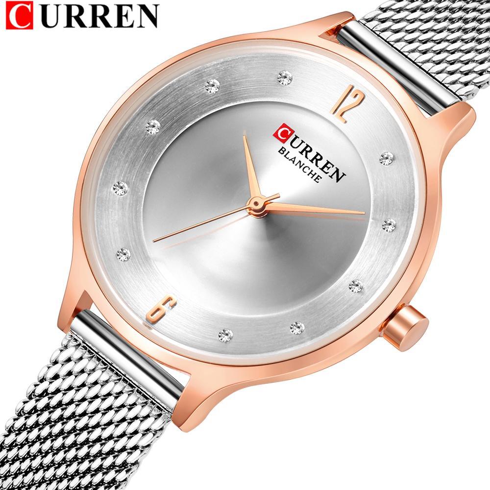 81858375936 CURREN Luxury Ladies Watch Fashion Female Stainless Steel Mesh Quartz Wrist  Watch Starry Sky Women Bracelet Watches Montre Femme Buy Cheap Watches  Online ...