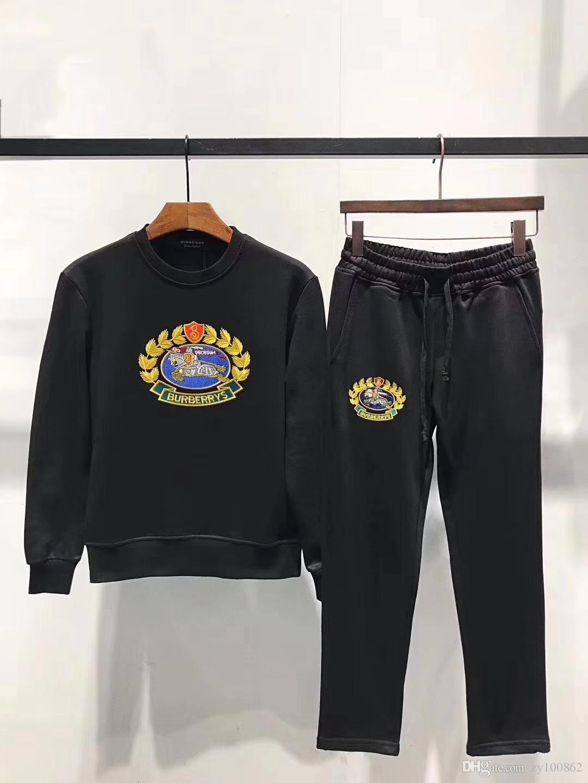 e9d75df54a4b 2019 TZ815 2018 Brand New Men S Sportwear Suit Sweatshirt Tracksuit Without  Men Casual Active Zipper Outwear Jacket And Pants Sets M 2XL From Zy100862