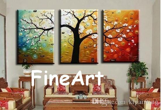 Hand Painted Panel Tree Wall Art Decorative Wall Quotes Fine Art Paintings Hanging On Wall For Decoration Unique Gift Kungfu Art
