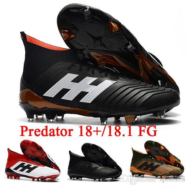 82268848c  With Bag  Predator 18+ 18.1 FG Soccer Cleats Chaussures De Football Boots  Mens High Top Soccer Shoes Predator 18 Cheap New Hot