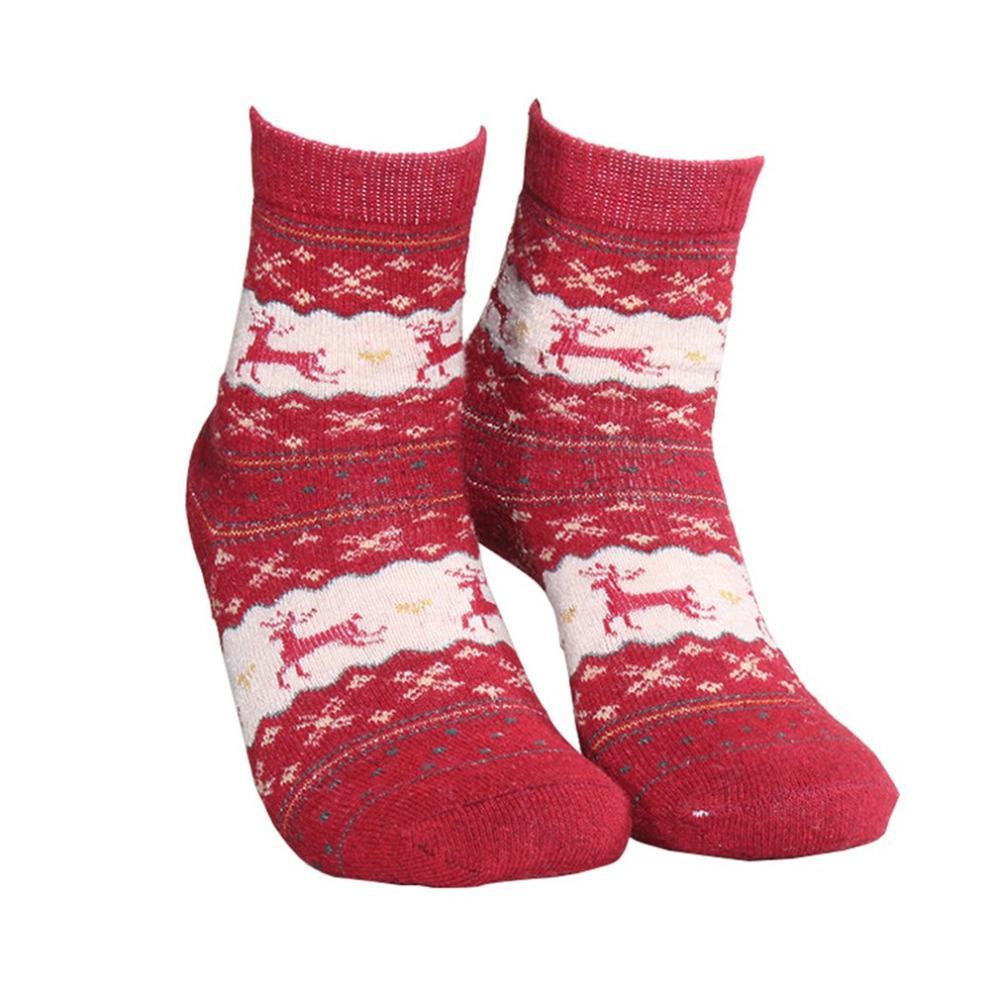 Großhandel Unisex Mode Elch Muster Socke Frauen Weihnachtsgeschenk ...