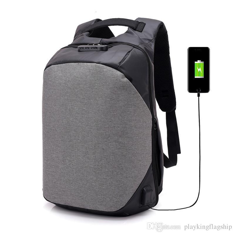 98090fa81a9f Man Anti Theft Backpack male Laptop Backpack USB Charger Waterproof  Schoolbag Women Travel Backpack Tigernu Mochila Escolar