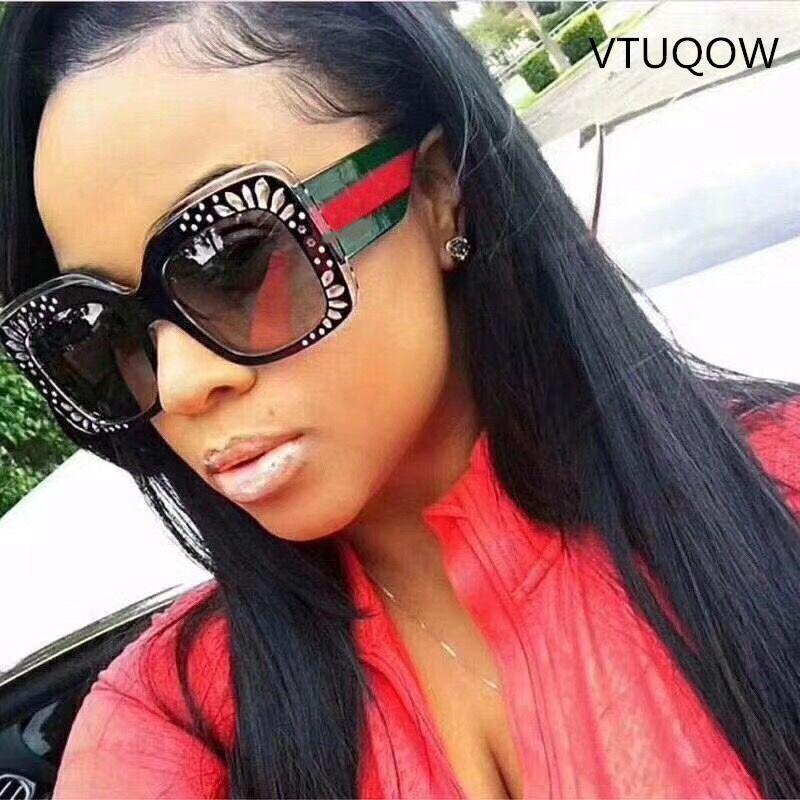 207041a305 Compre 2019 Nueva Tendencia Cuadrados Gafas De Sol Mujeres Diseñador De La Marca  Retro Gafas De Sol De Lujo Para Mujer Mujer Sunglass Gafas De Sol UV400 A  ...