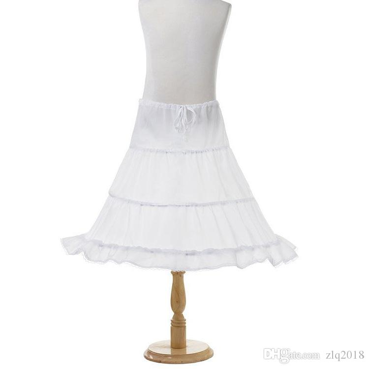 Real Image Flower Girls Dresses Petticoat Three Circle Hoops White Little Children Bustles Princess Slip Skirts Petticoat