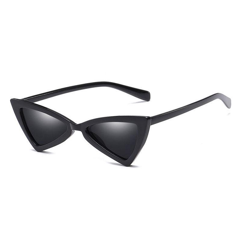 46f1e995013f4a Acquista Nuovo Arrivo Triangolo Occhiali Da Sole Donne Cat Eye Vintage Nero  Leopardo A Buon Mercato Farfalla Occhiali Da Sole Femminile Retro Eyewear  UV400 ...