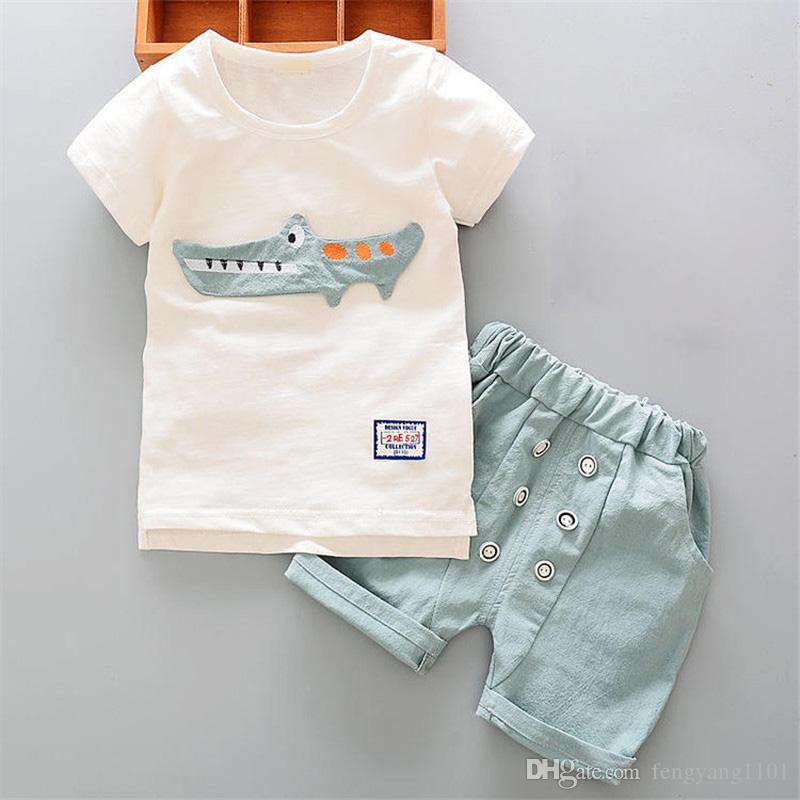 3bd4e0a0a41ab Baby boy clothes casual cotton children boys sport suit summer clothing  sets kids 2pcs shirt+pants clothes tracksuits