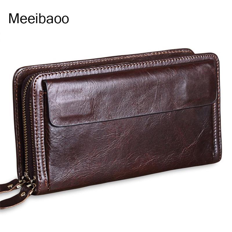 da139a9aca1a 2018 new men's genuine leather wallet clutch bag wallet cow leather  business bag YD293