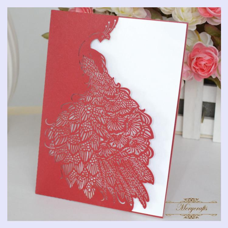 Mr031 Elegant And Artistic Paper Wedding Invitation Card Unique Laser Cut Invitations Personalized Cards Personalized Christmas Card From Ilexer