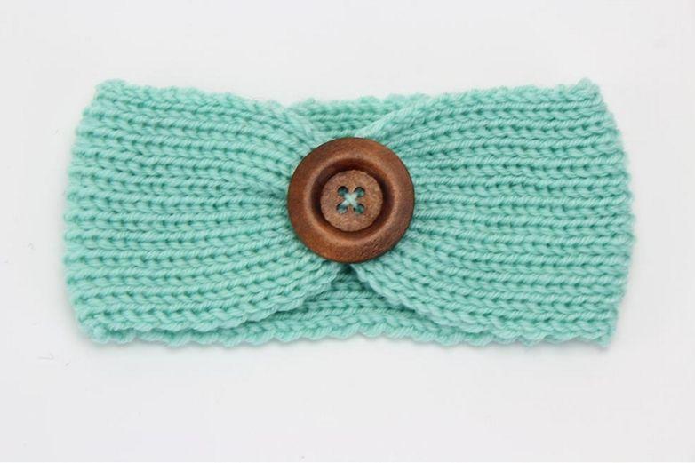 Baby Knit Headband For Winter Cute Girls Double Crochet Top Knot Elastic Turban Girls Head Wrap Ears Warmer Headwear