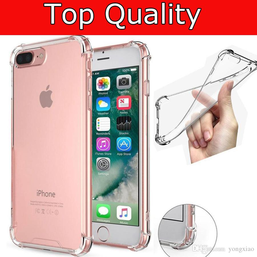 1dc77bb90c4 For Iphone X Xs Max Xr 7 Plus 8 6.5 Samsung S9 Case Shockproof Tpu Case  Back Cover Transparent Soft Thicken Clear Gel Rubber Bulky Corners Free  Cell Phone ...