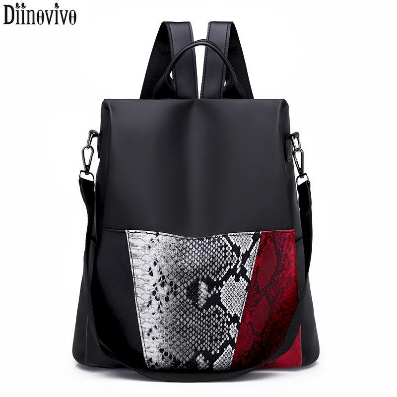 Diinovivo Oxford Cloth Female Backpacks Classic Backpacks Woman 2018 School  Bags For Teenager Girls Large Capacity Packs DNV0735 Best Laptop Backpack  ... 4517758772895