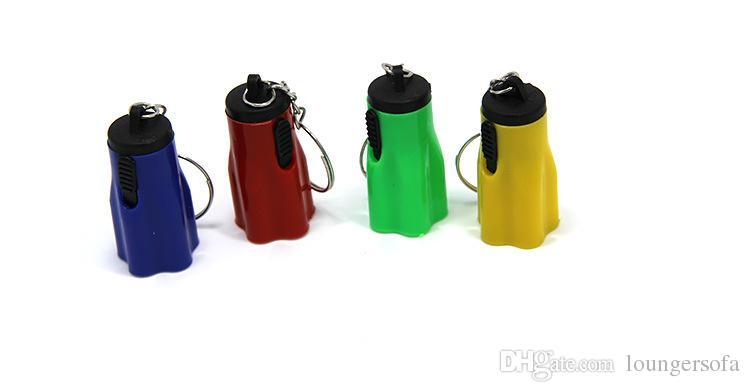Plastic Led Lanternas Super Mini com chaveiro portáteis para Outdoor Caminhadas Camping Tocha da pétala da flor Forma 0 35ch ZZ