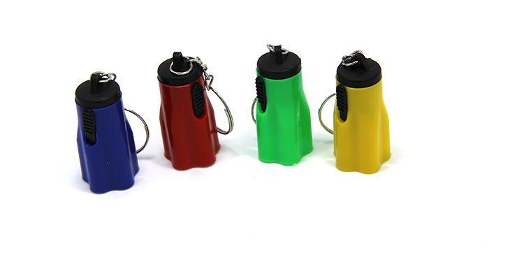 Plastique Led Flsahlights Super Mini Tazer Avec Porte-clés Portable Pour Camping En Plein Air Randonnée Torche Fleur Pétale Forme Designer 0 35ch ZZ